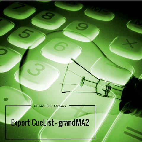 Export CueList2 grandMA2