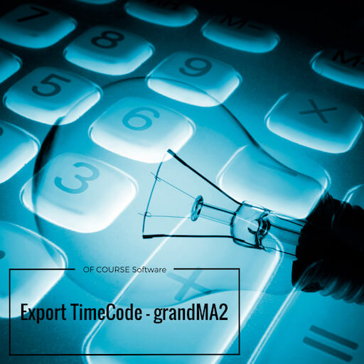 Export TimeCode2 for gma2