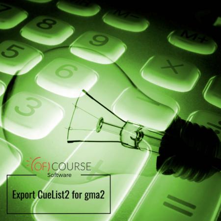Export CueList2 for gma2