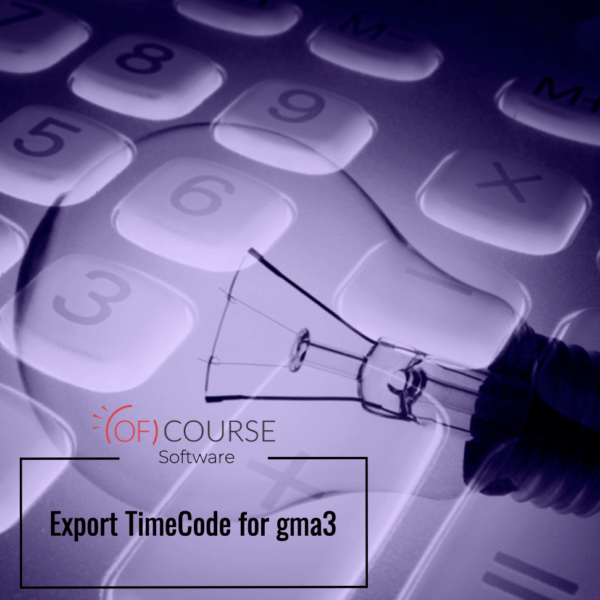 Export TimeCode for gma3
