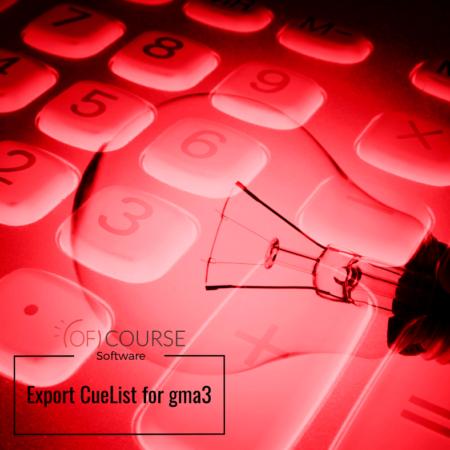 Export CueList for gma3